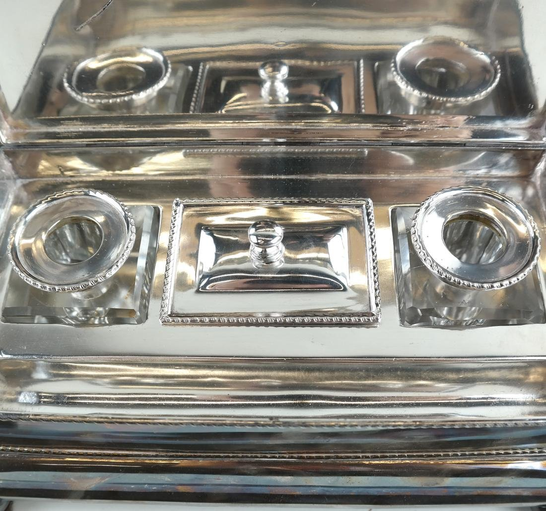 English Silver-plated Standish - 6