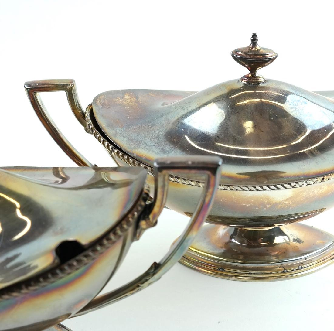 Pair of Silver-Plated Tureens - 6