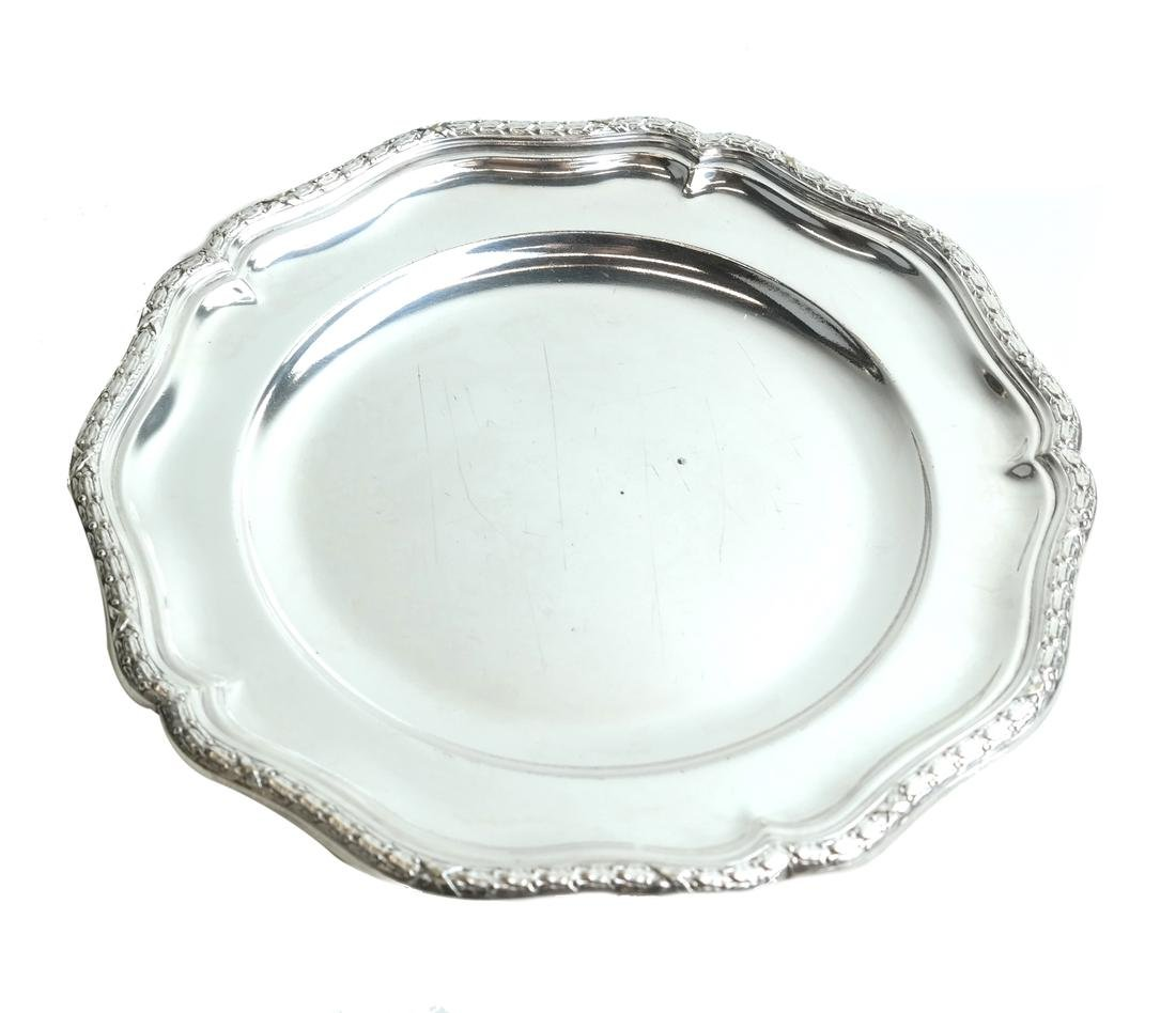 Twelve Silver-Plated Plates - 5