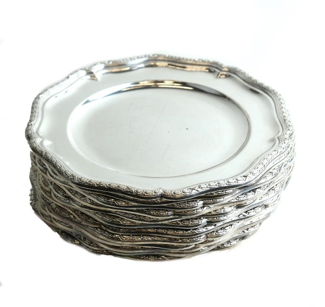 Twelve Silver-Plated Plates - 7