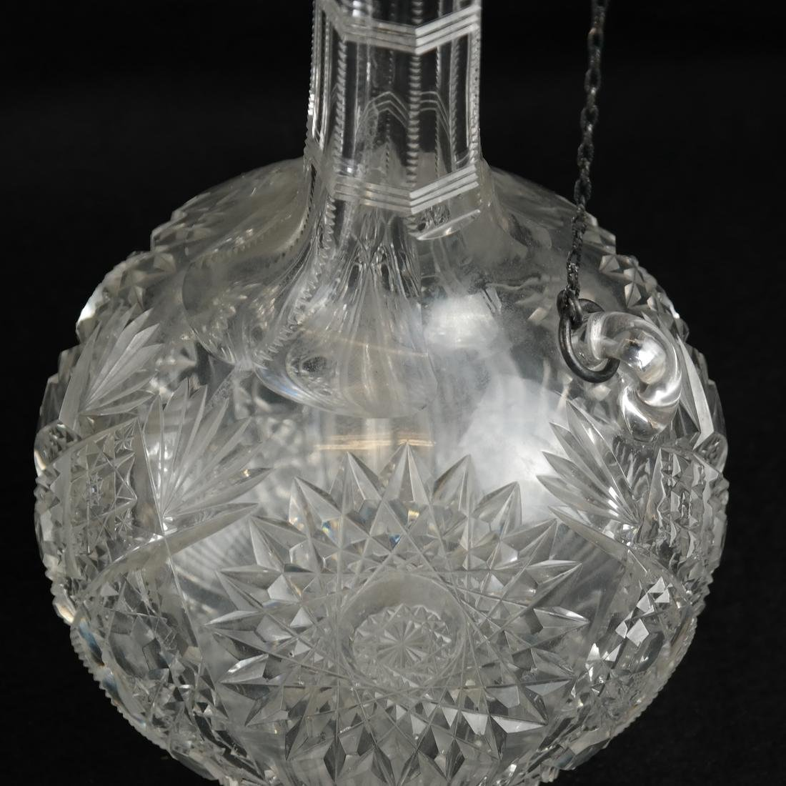 Two Sterling Mounted Glass Decanters - 4