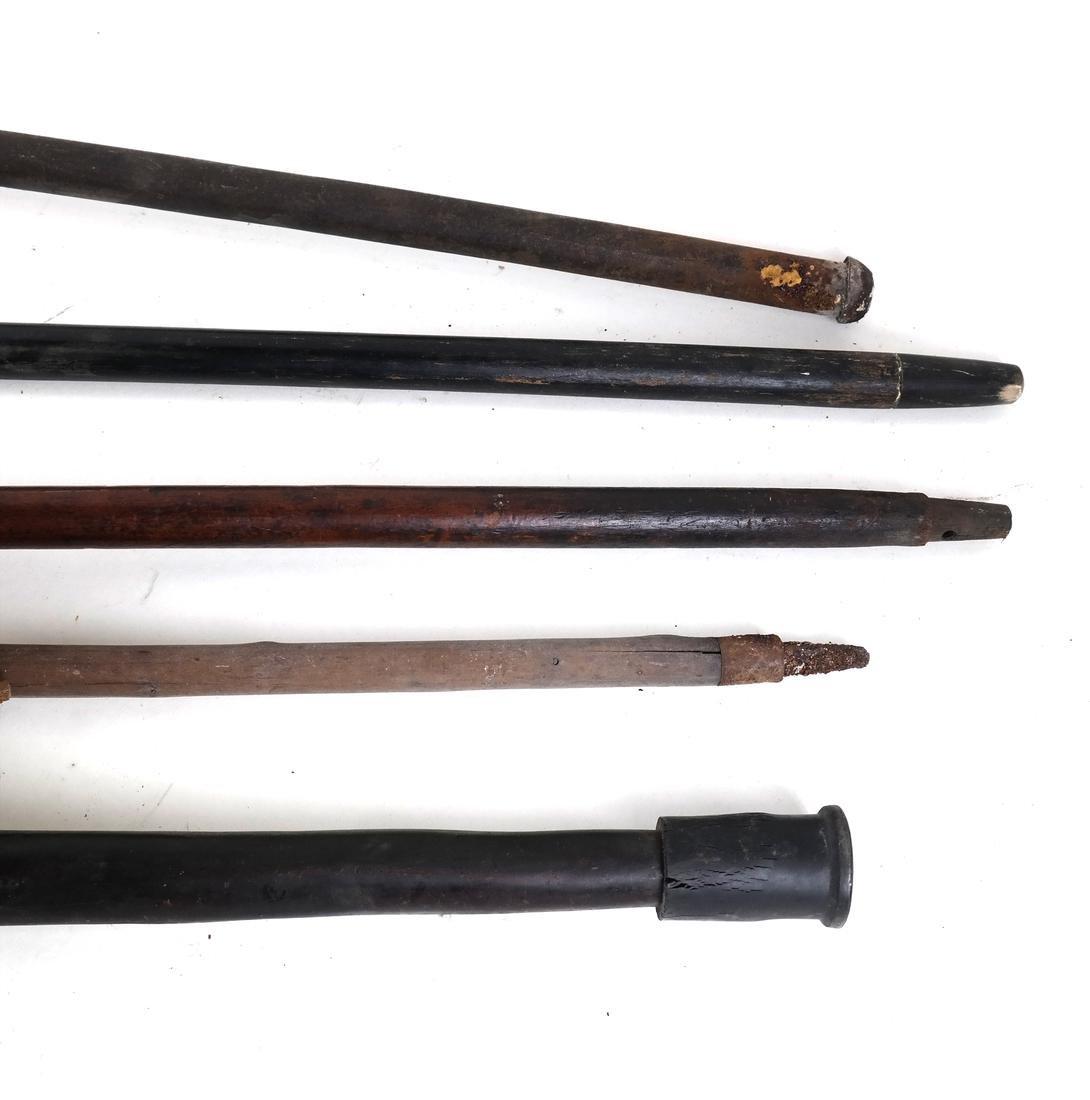 Five Various Walking Sticks - 5
