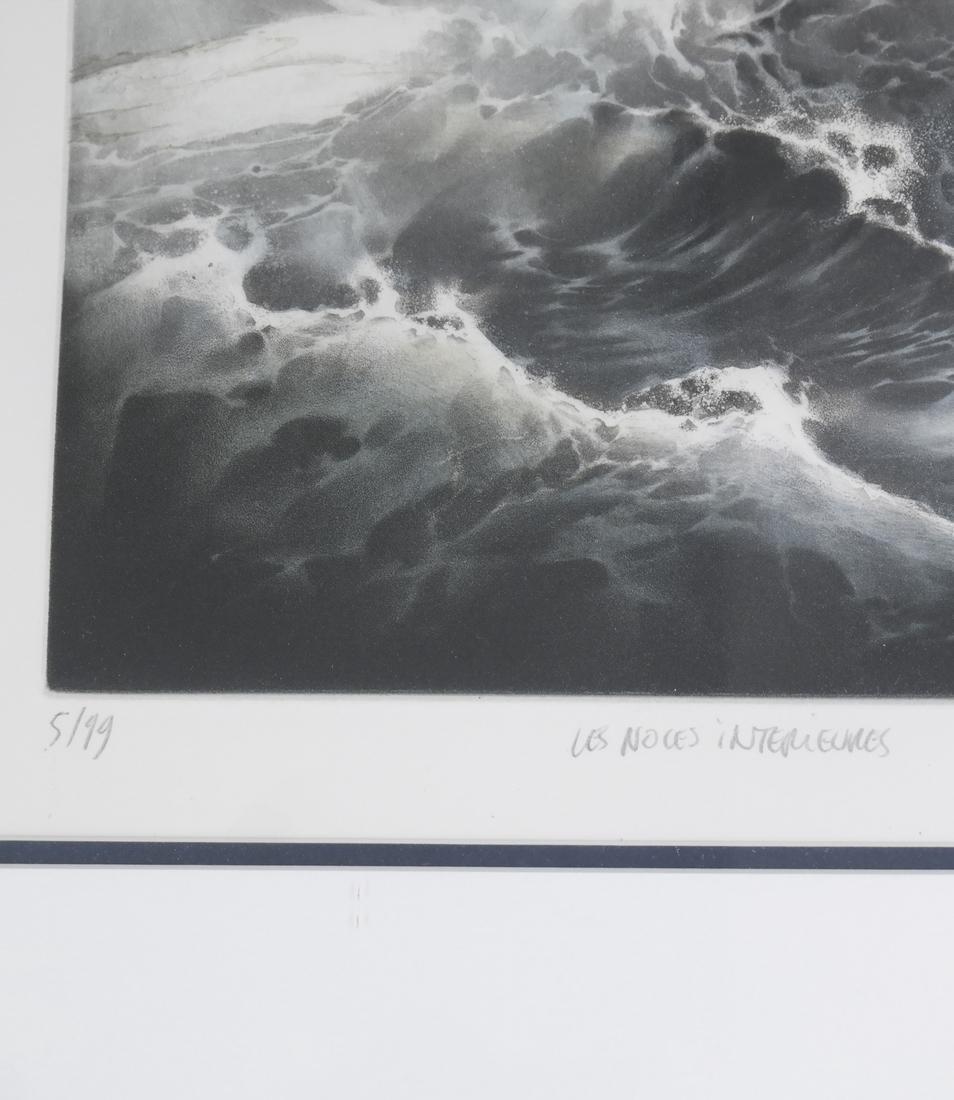 Mountain Seascape Lithograph - 4