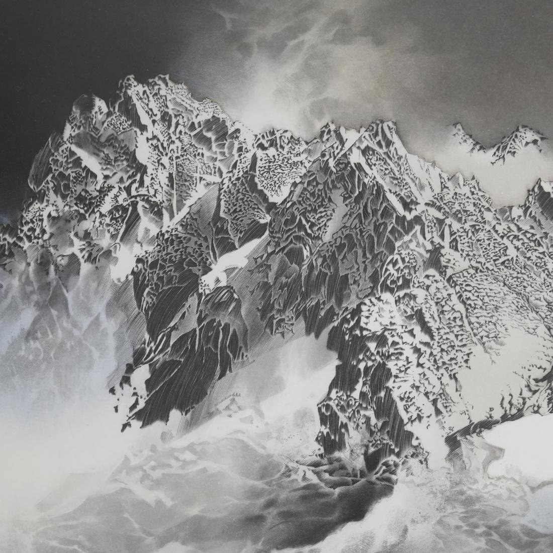 Mountain Seascape Lithograph - 5