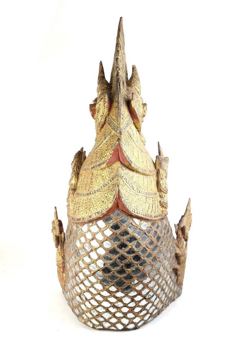 Giltwood Carved Dragon Mask - 9