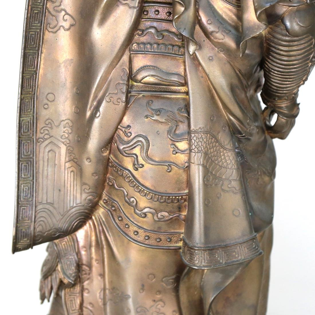 Chinese Monumental Bronze Palace Guard Figure - 10
