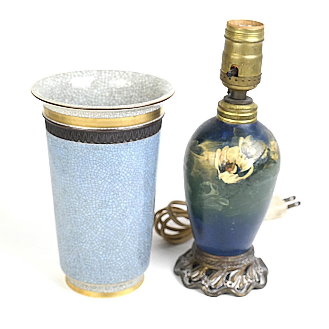 Royal Copenhagen Vase and Lamp