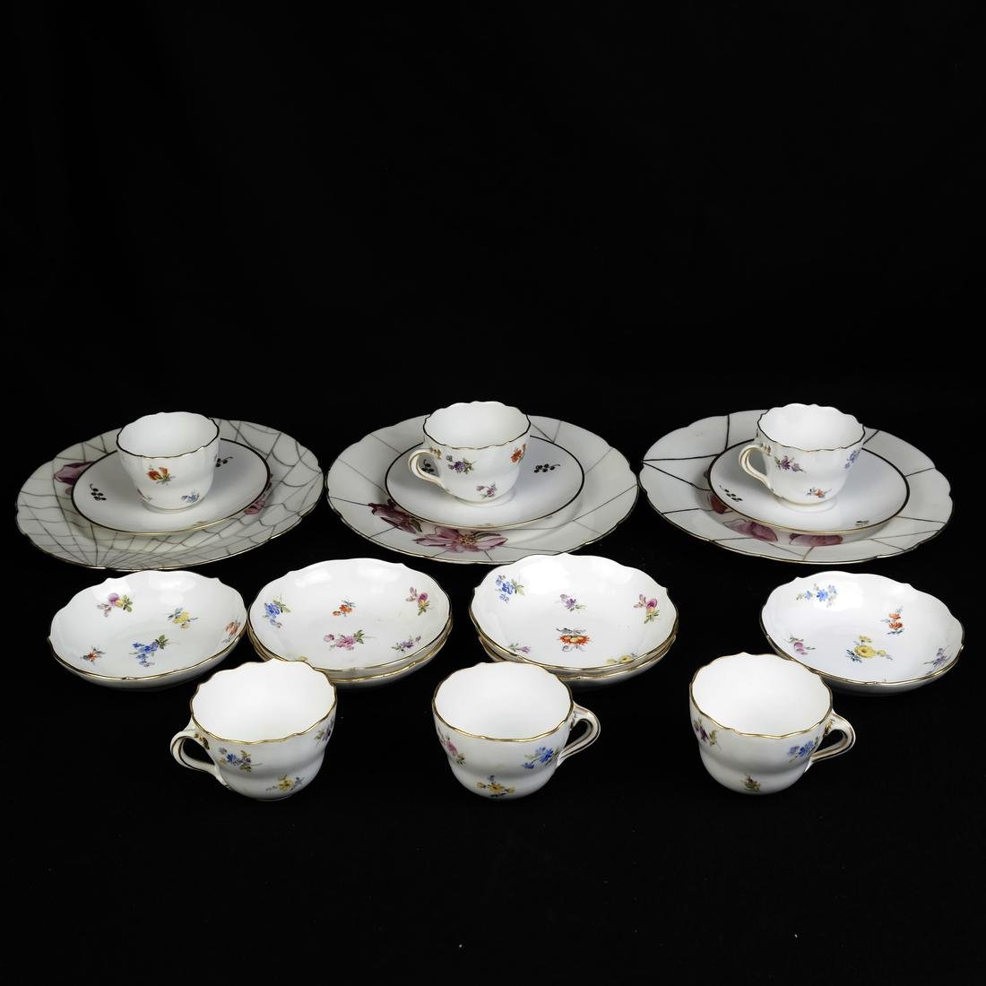 Meissen Cups and Saucers, others