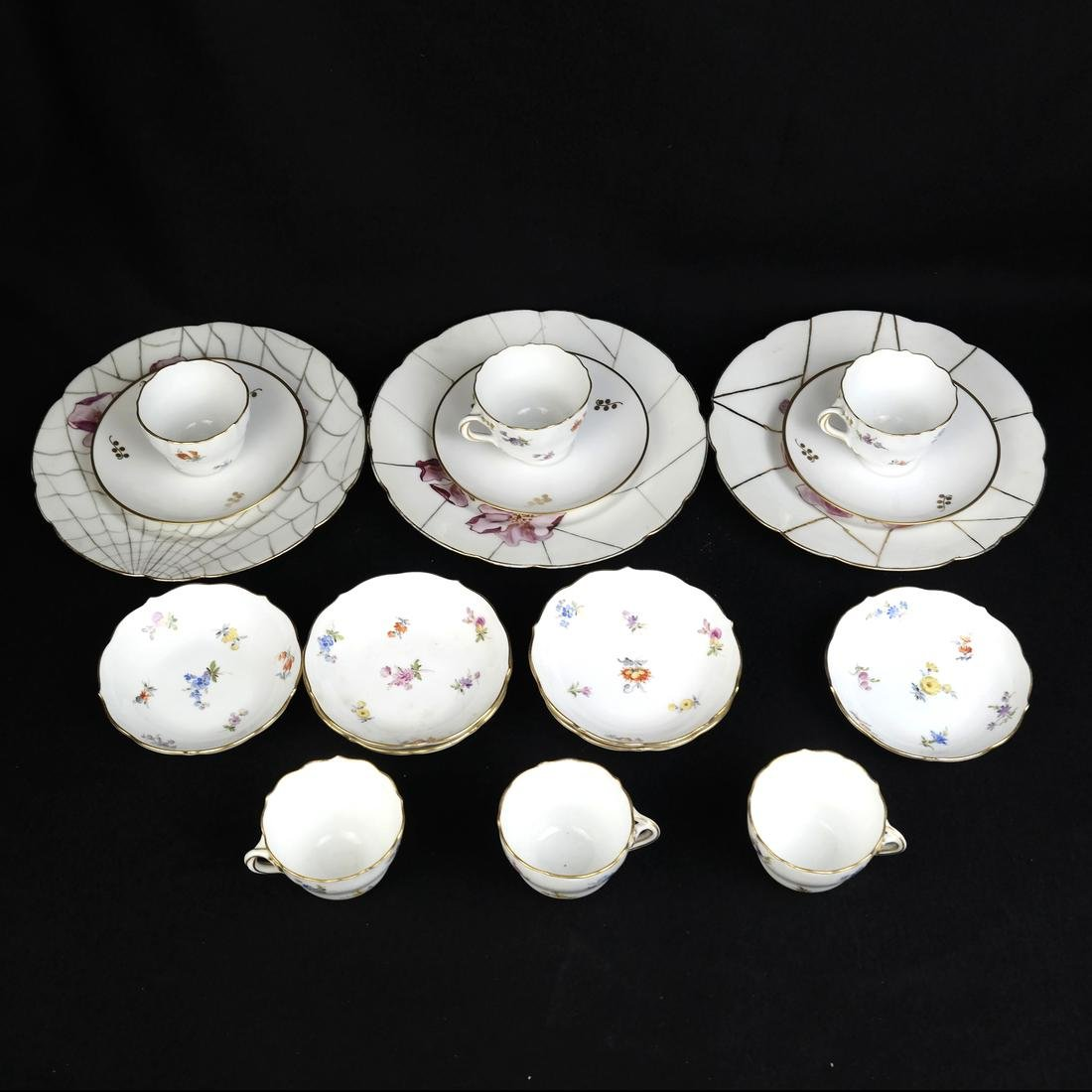 Meissen Cups and Saucers, others - 2