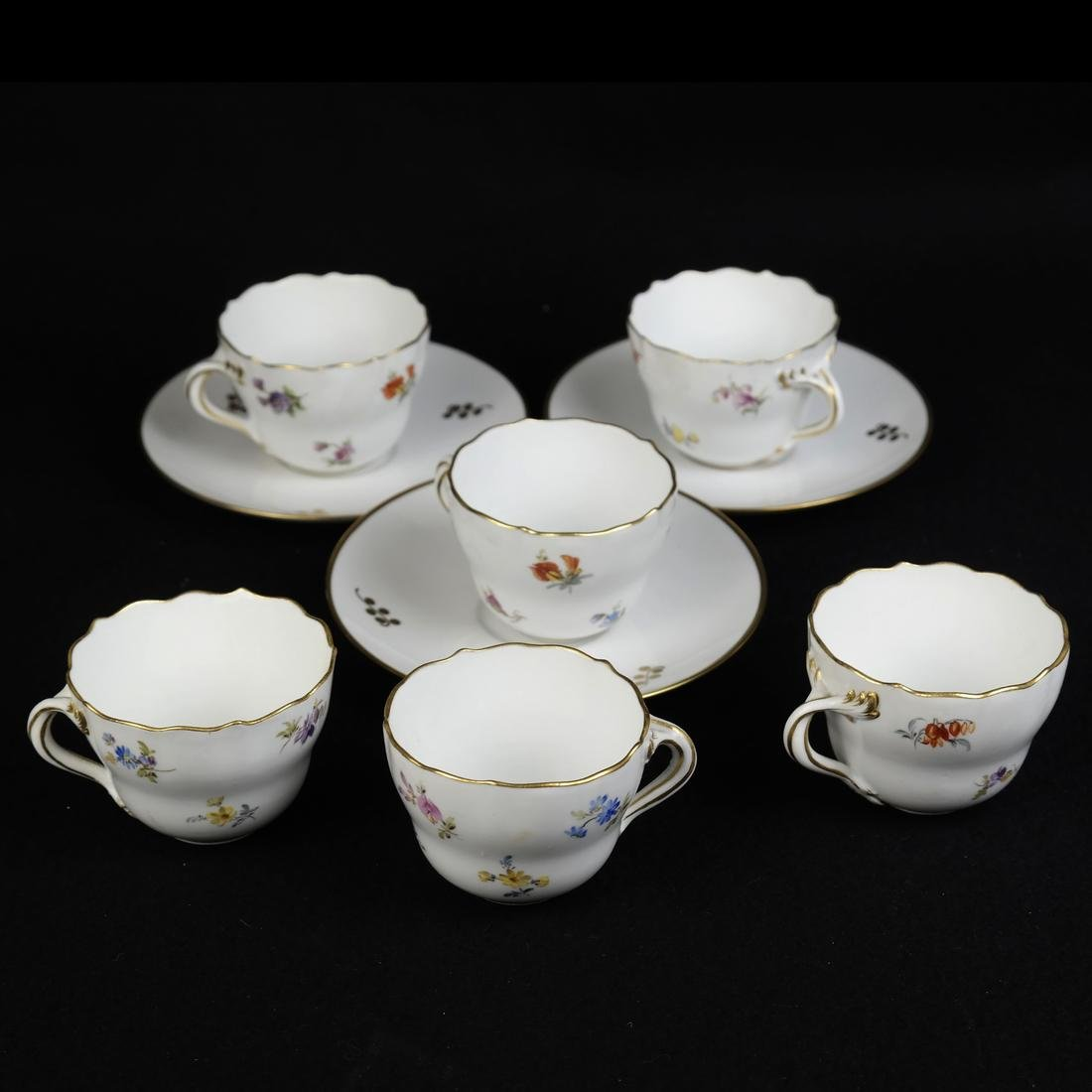 Meissen Cups and Saucers, others - 5