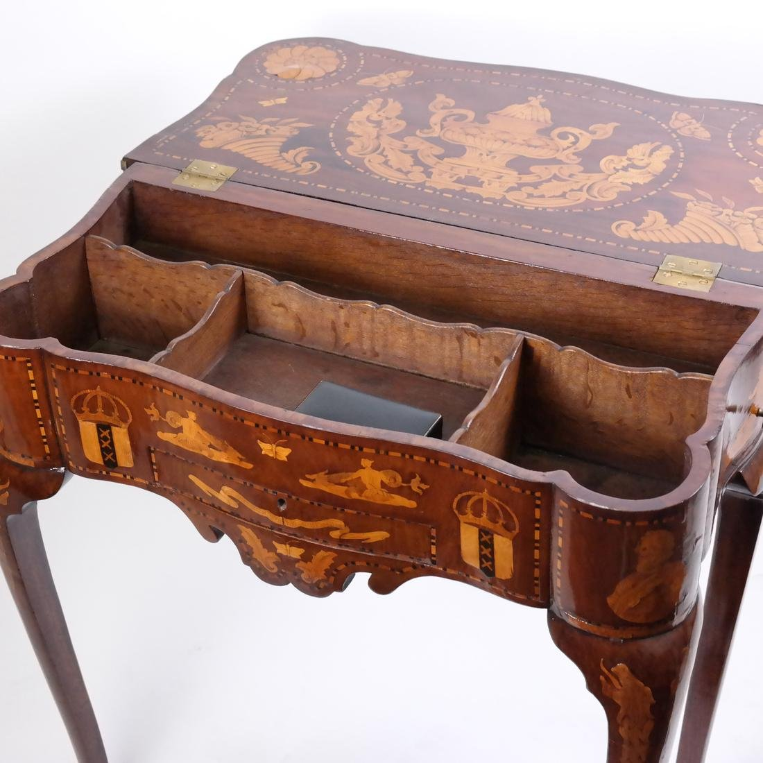 Antique Continental Games Table - 10