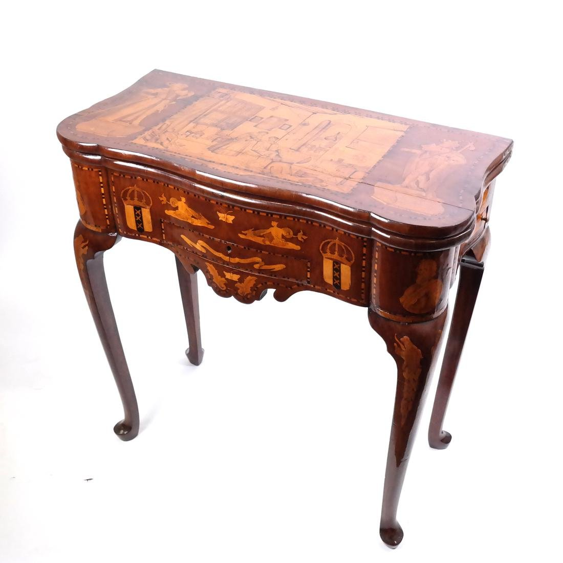 Antique Continental Games Table