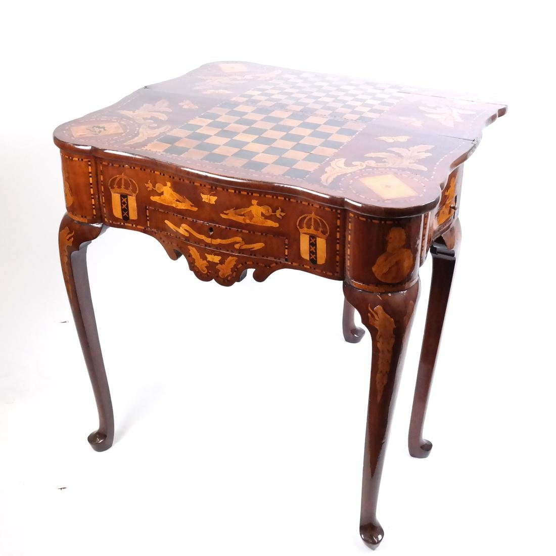 Antique Continental Games Table - 3