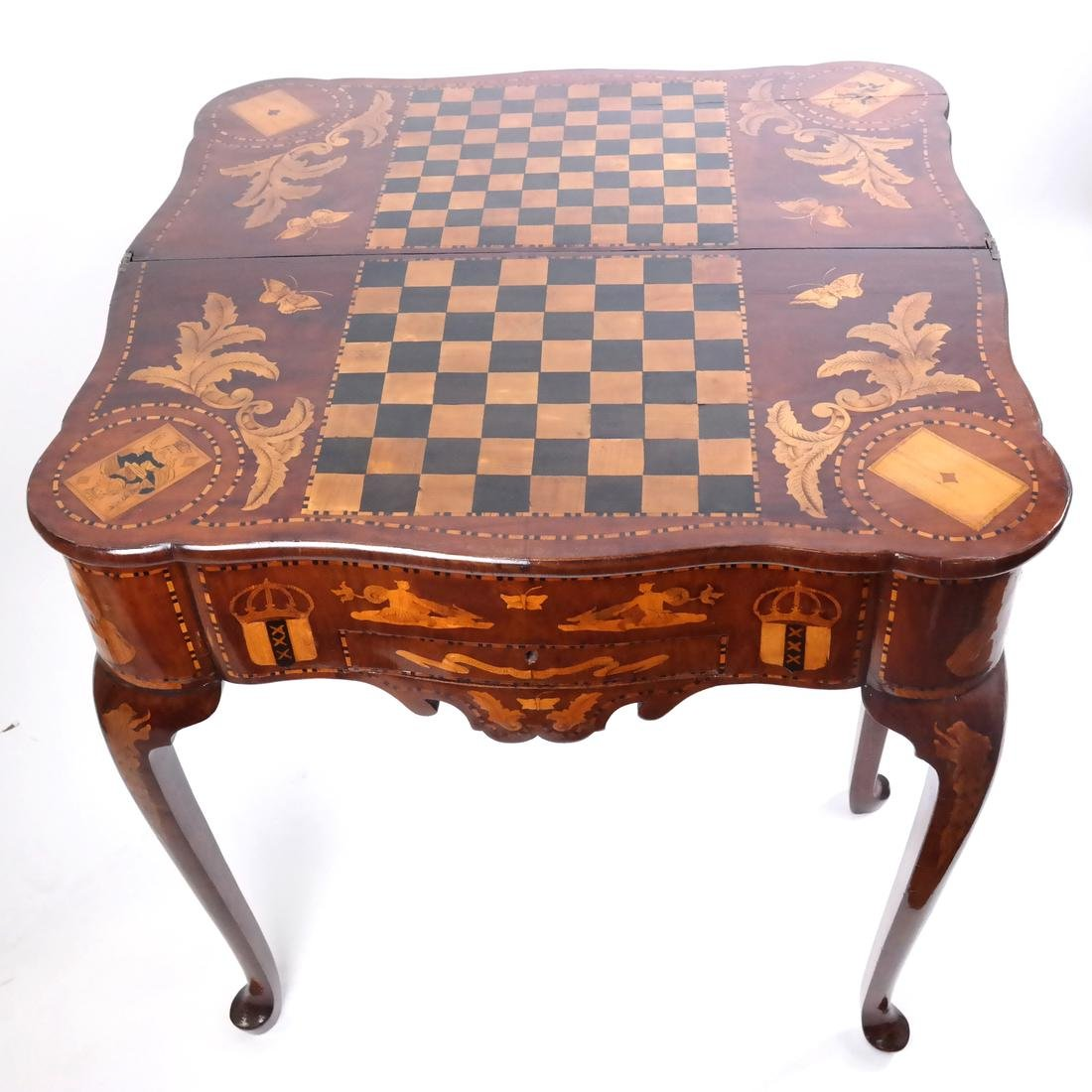 Antique Continental Games Table - 4
