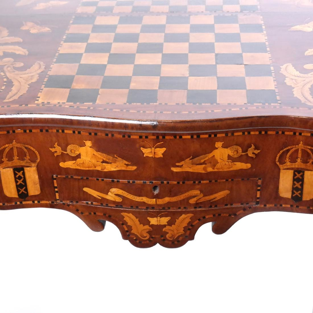 Antique Continental Games Table - 5