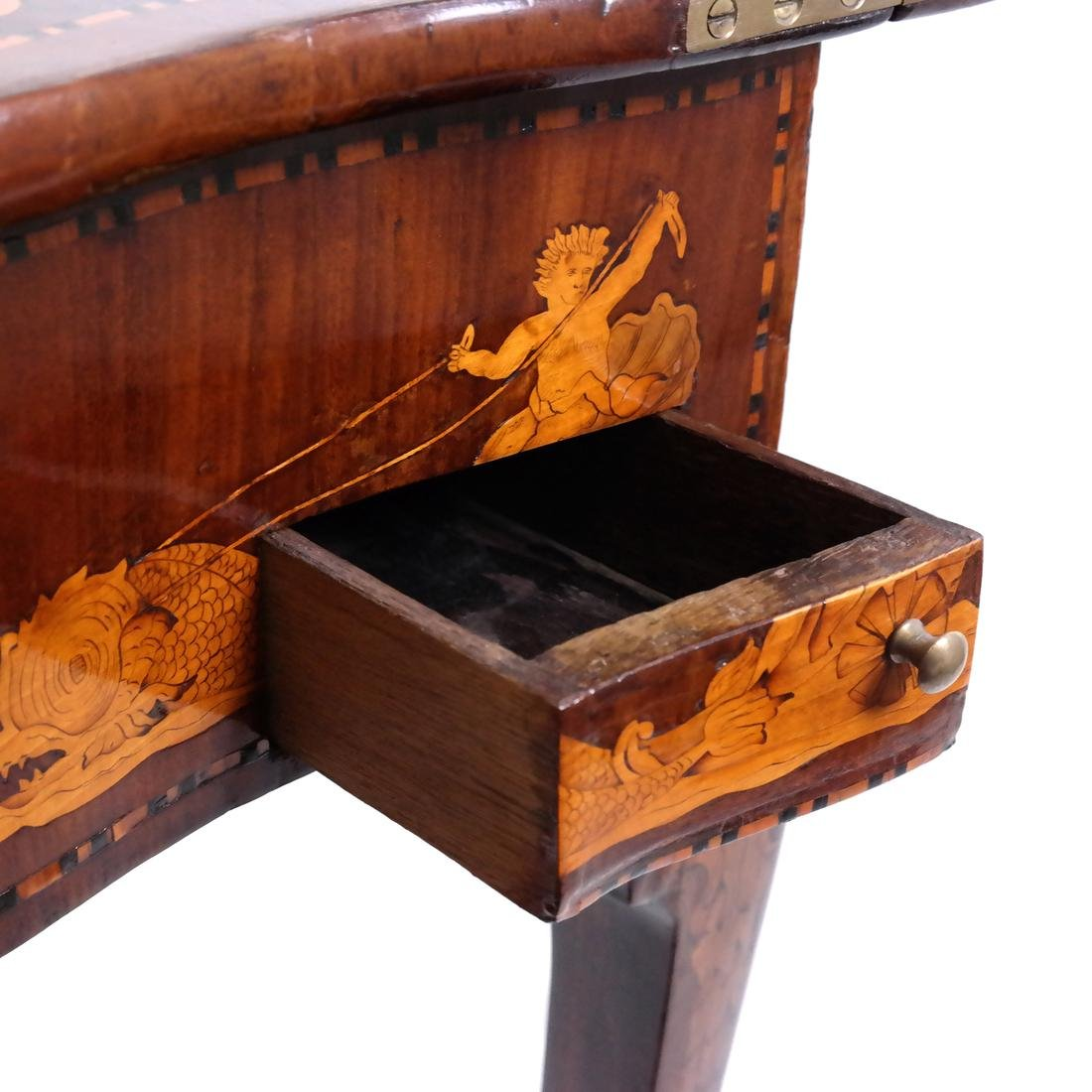 Antique Continental Games Table - 7