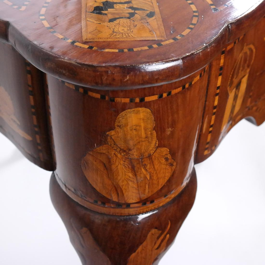 Antique Continental Games Table - 9