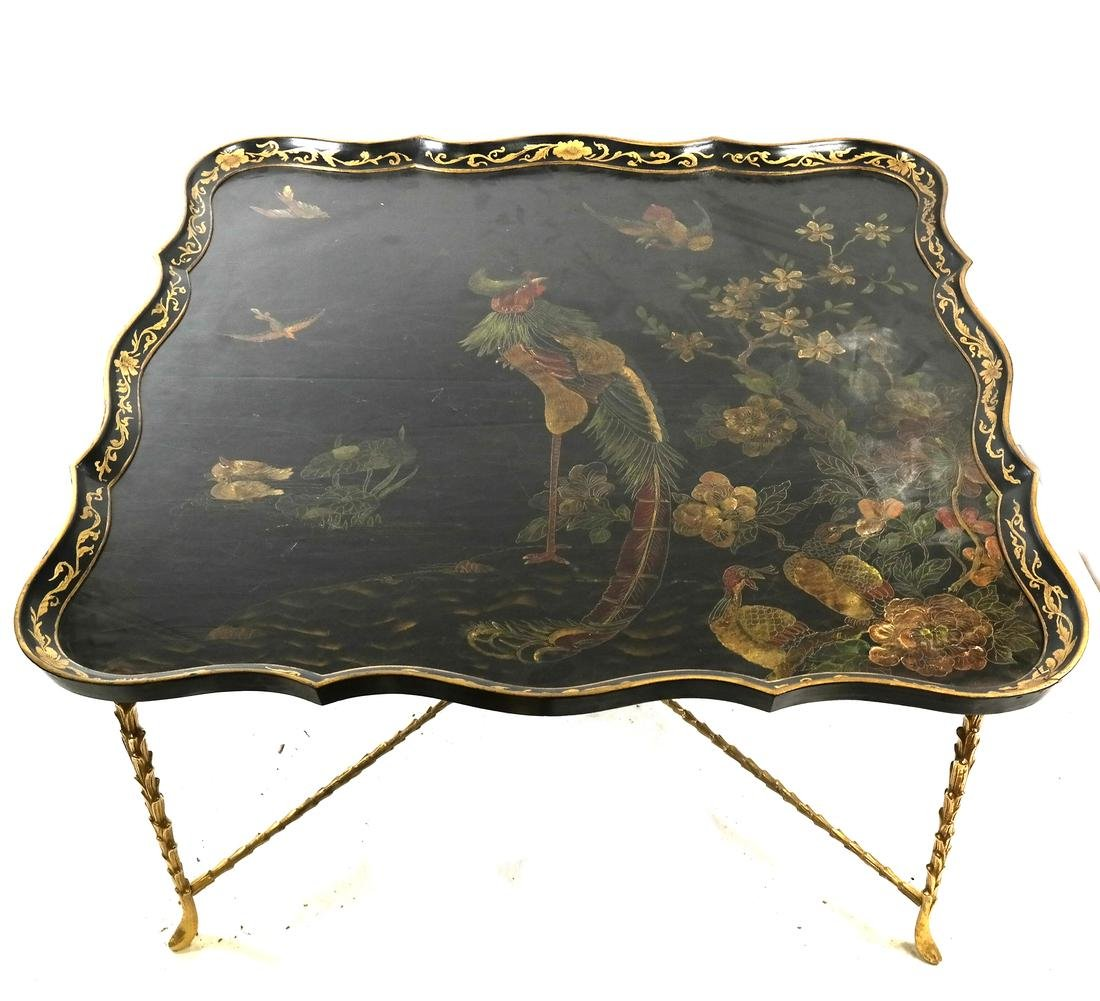 Chinoiserie and Gilt Bronze Coffee Table
