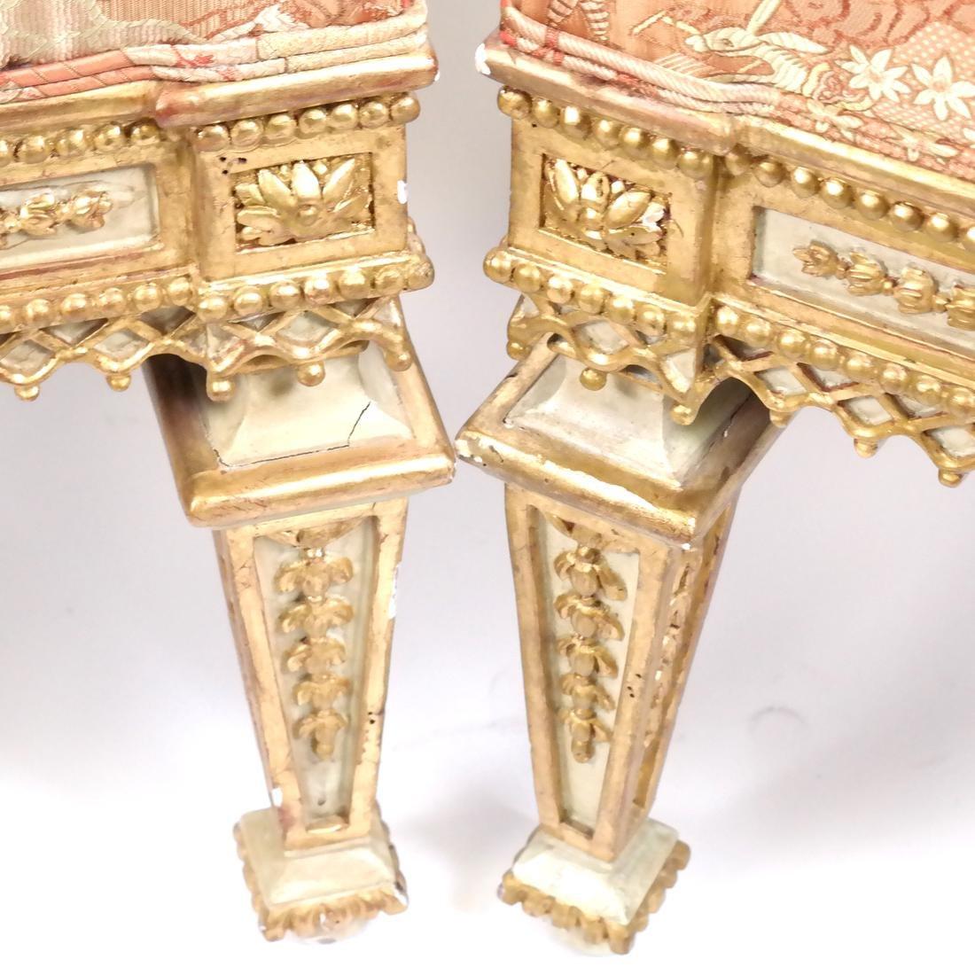 Pair of 19th Century Classical Stools - 4