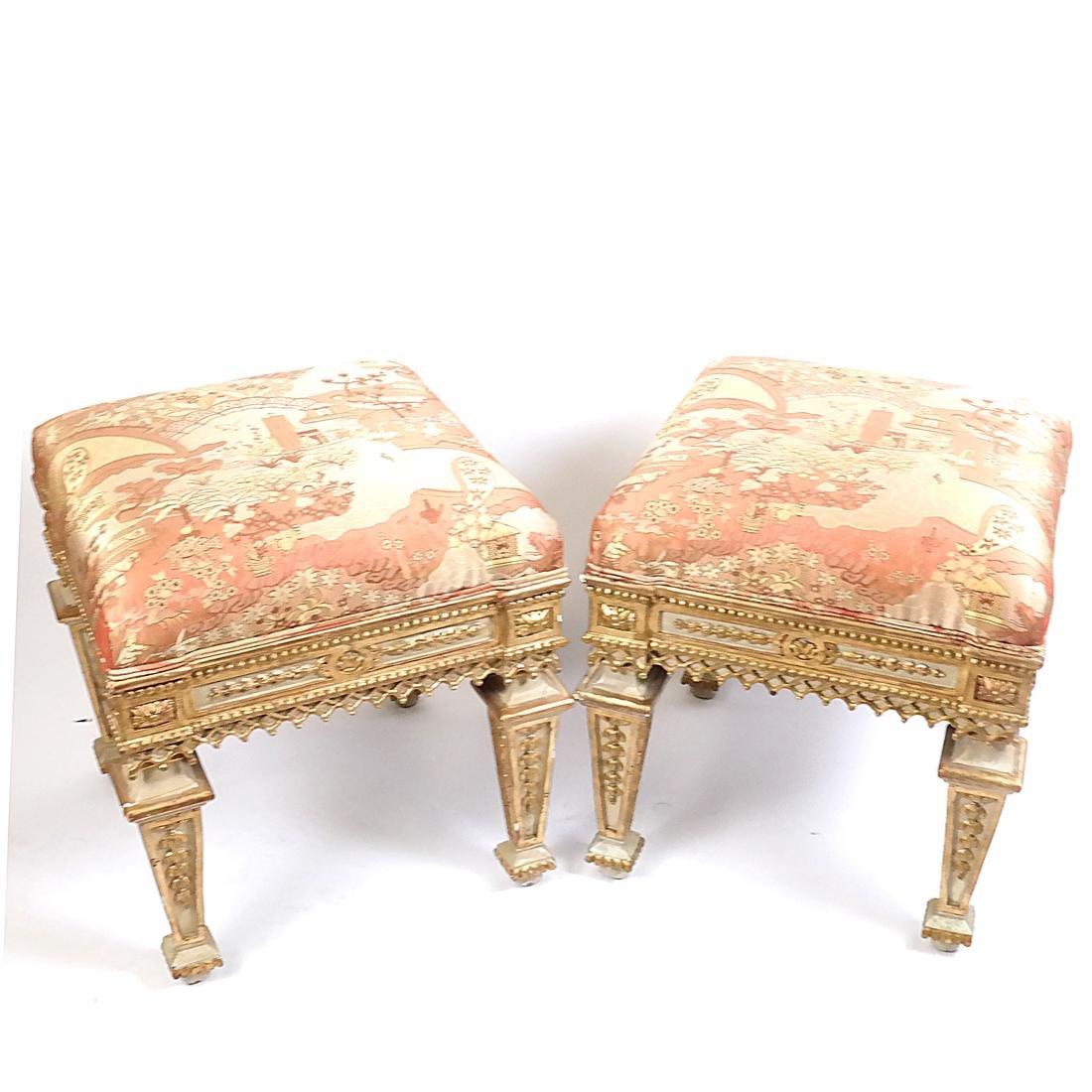 Pair of 19th Century Classical Stools - 7