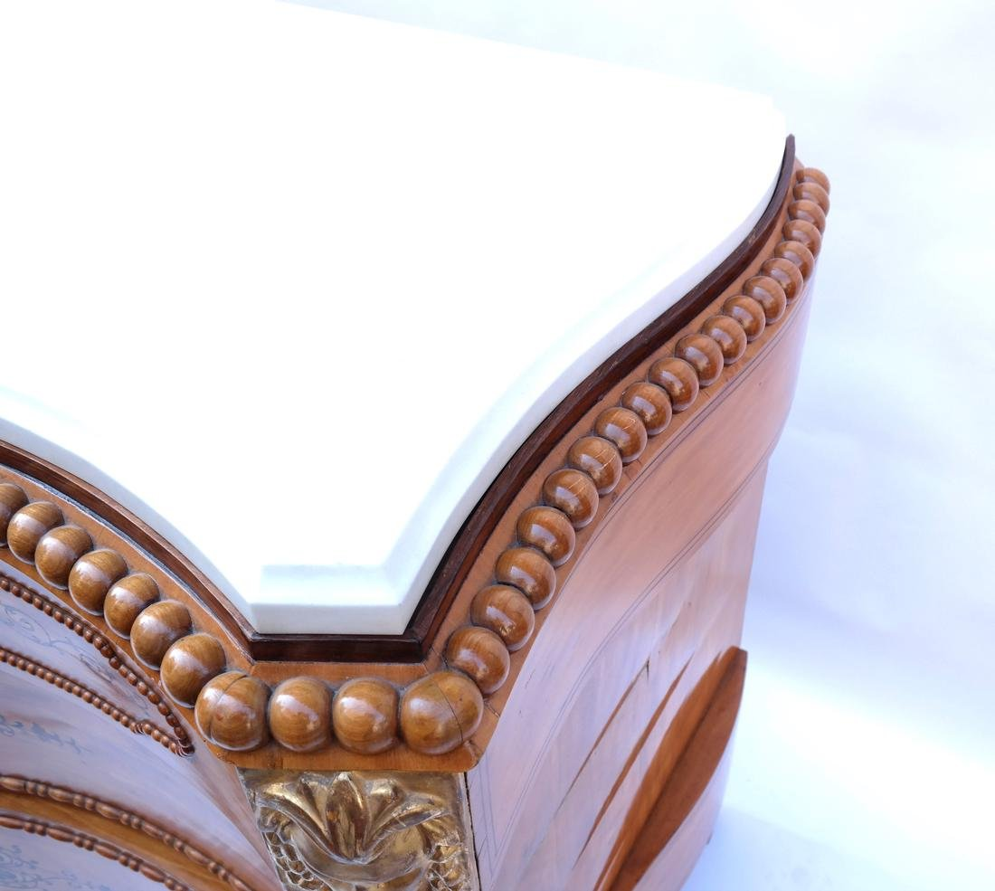 Marble Top Italian Neoclassical Commode - 8