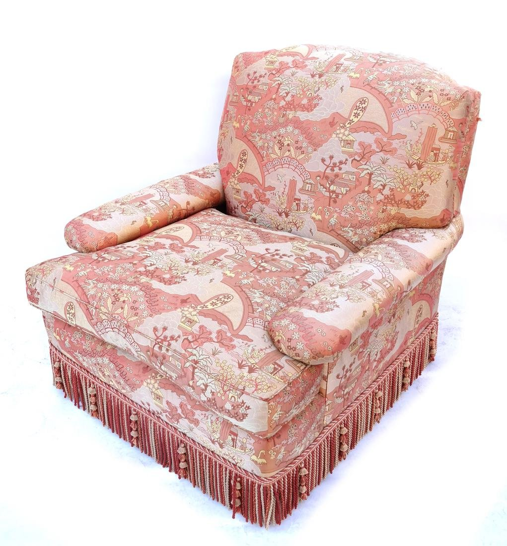 Pair of Silk Upholstered Club Chairs - 3