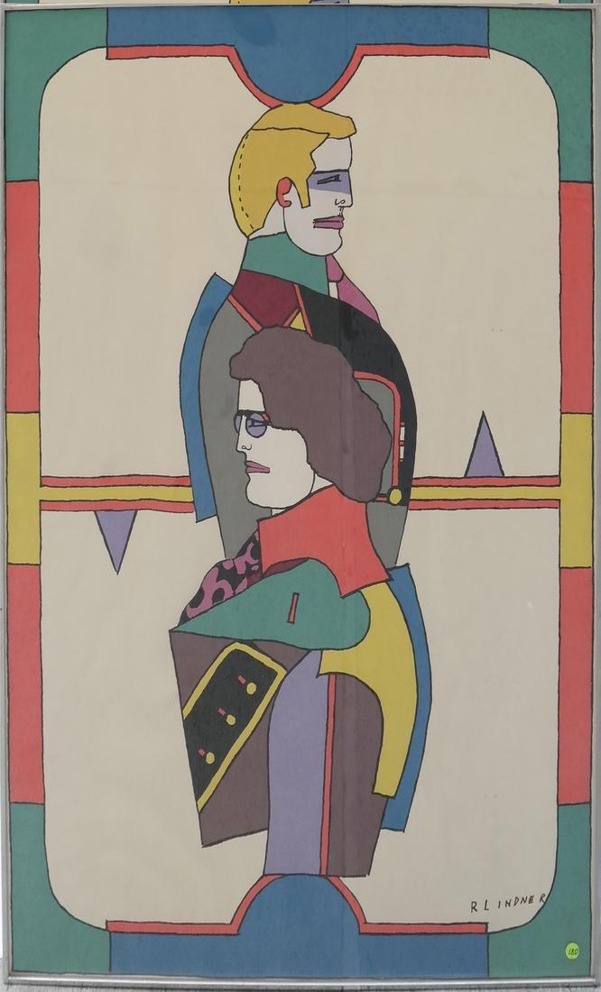 Richard Lindner Two Modernist Figures - 2