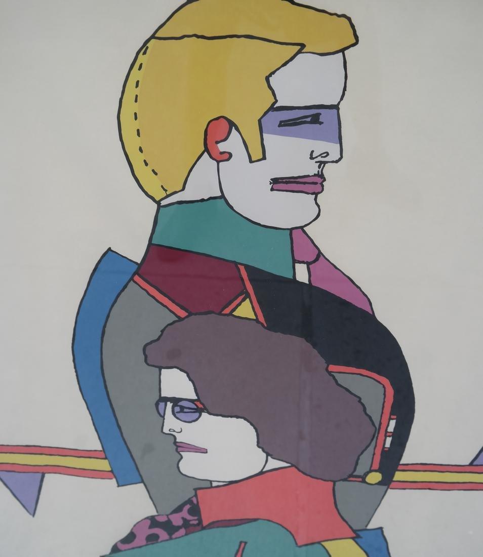 Richard Lindner Two Modernist Figures - 3