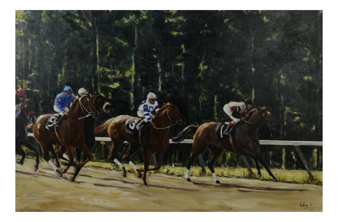R. Levy, Equestrian Racing Scene