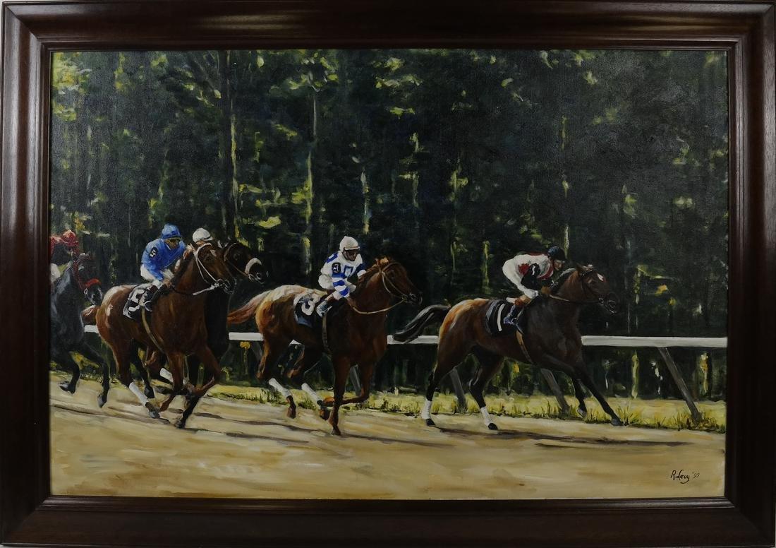 R. Levy, Equestrian Racing Scene - 2