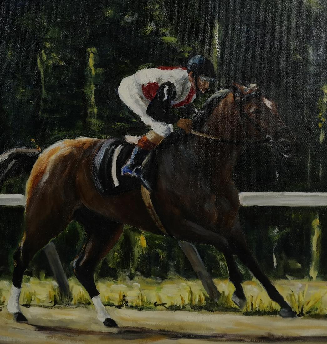 R. Levy, Equestrian Racing Scene - 4
