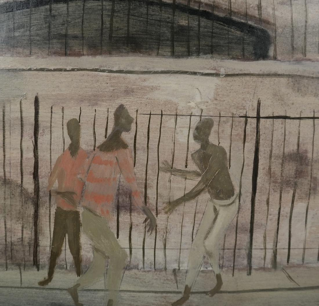 Pedestrian Street Scene, Framed O/B - 4