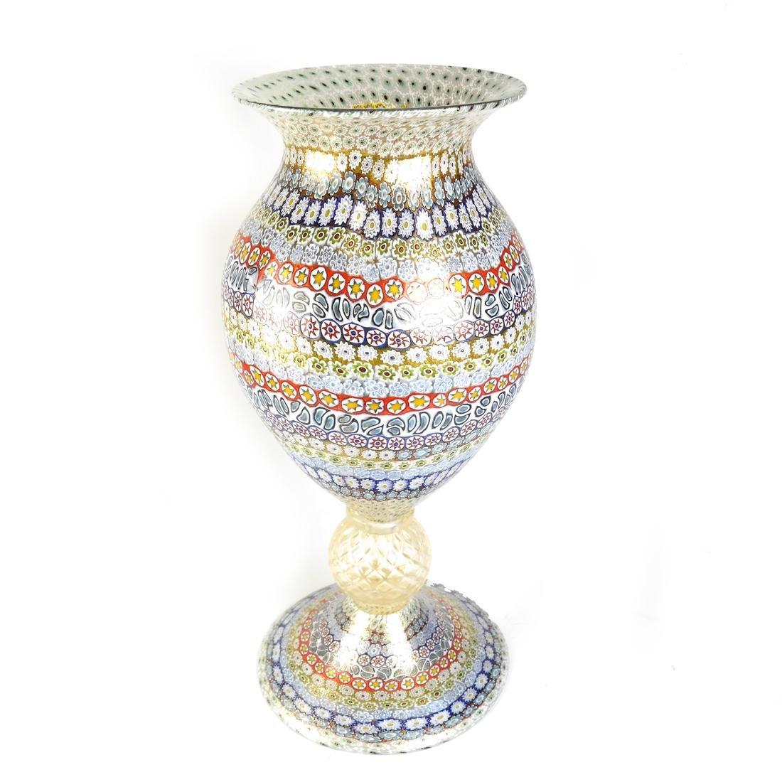 Murano Millefiori Glass Vase