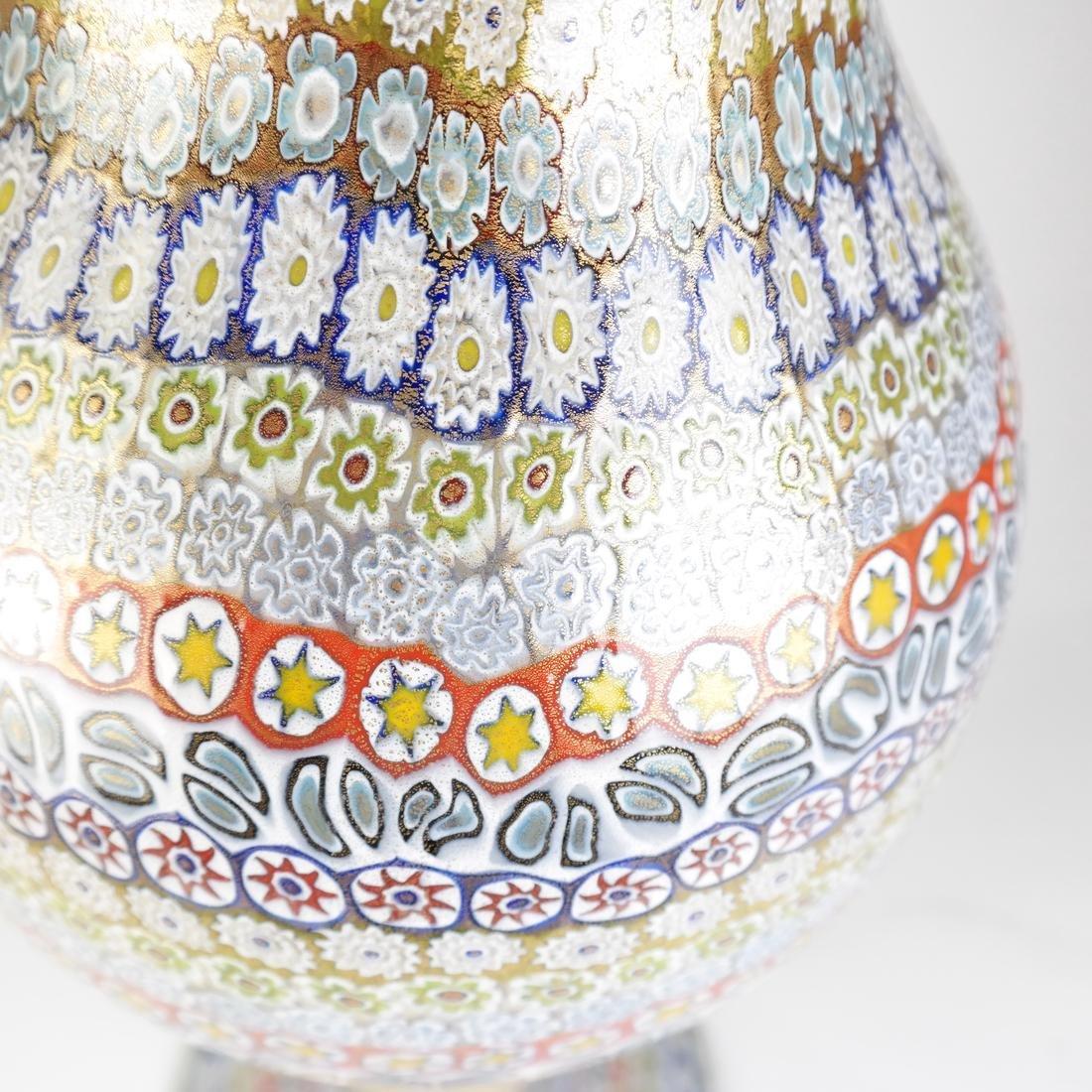 Murano Millefiori Glass Vase - 2