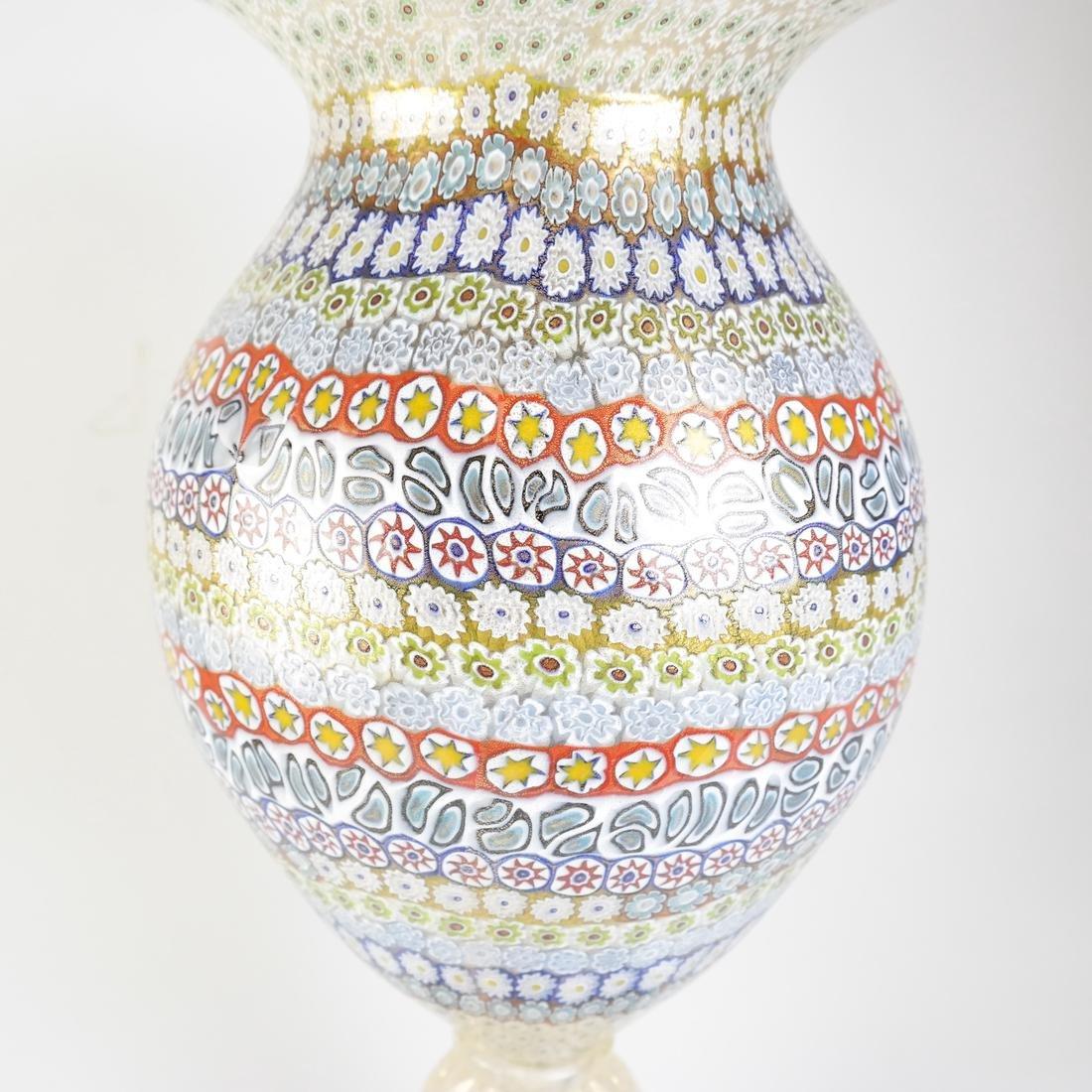 Murano Millefiori Glass Vase - 3