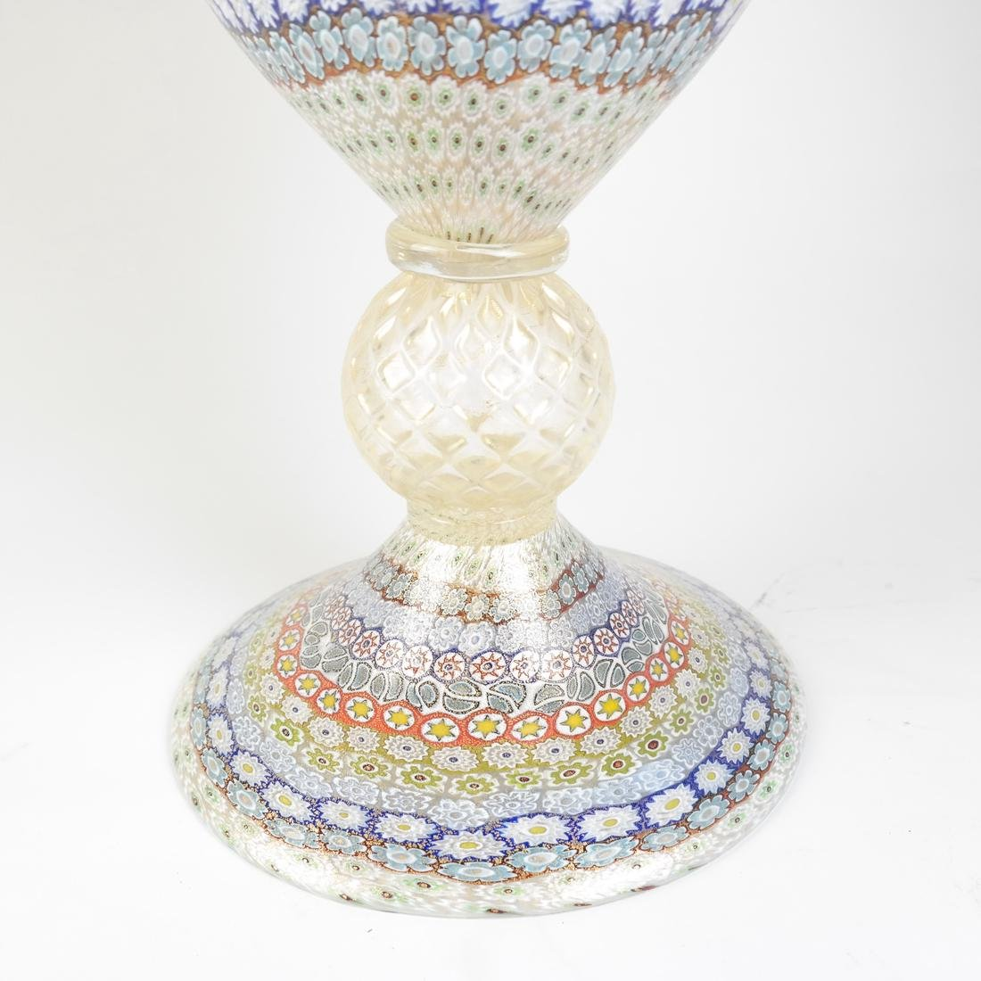 Murano Millefiori Glass Vase - 4