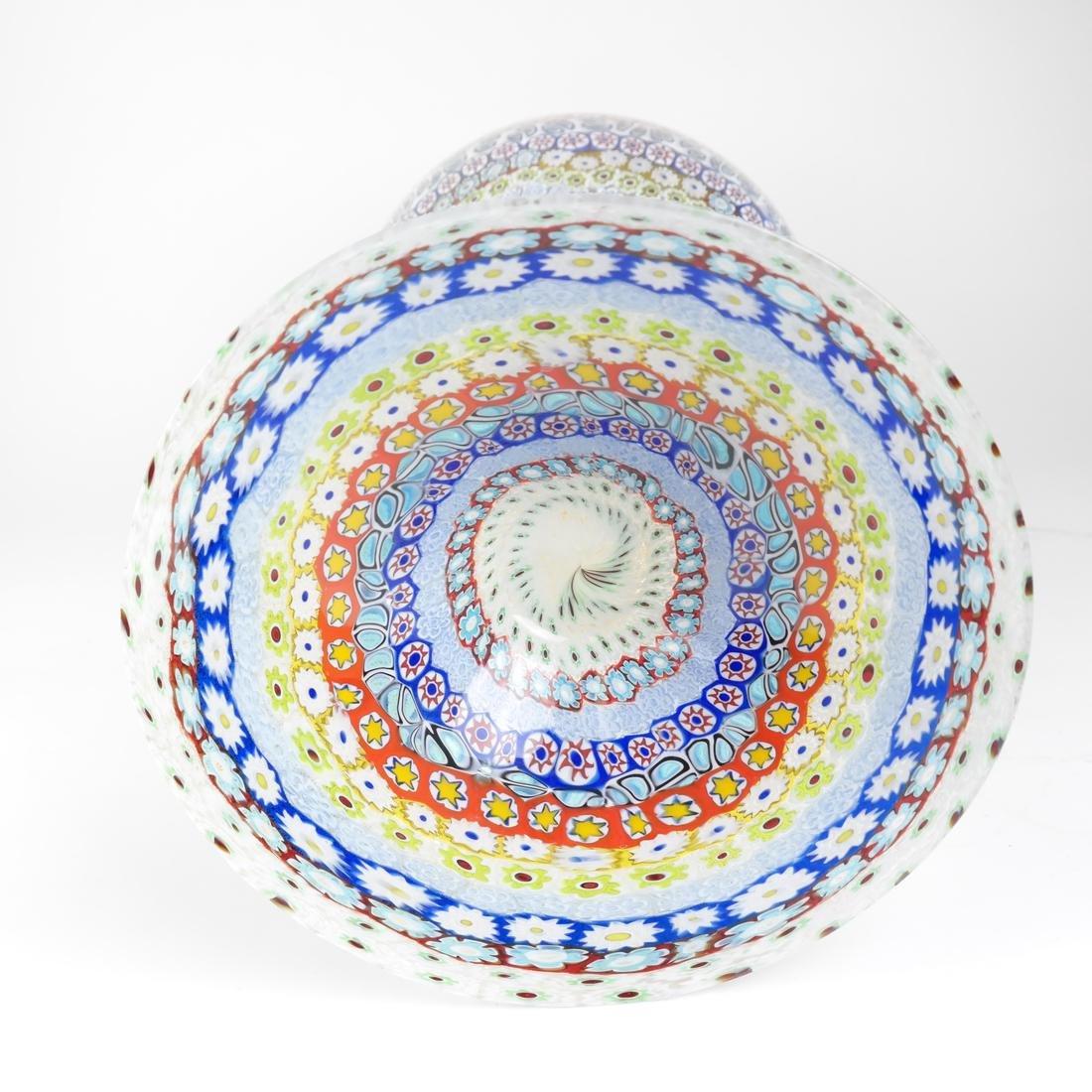 Murano Millefiori Glass Vase - 5