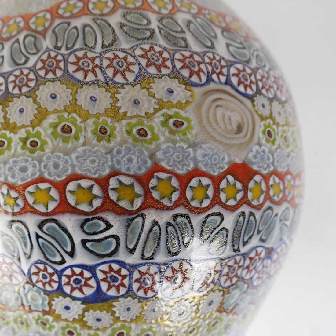 Murano Millefiori Glass Vase - 7