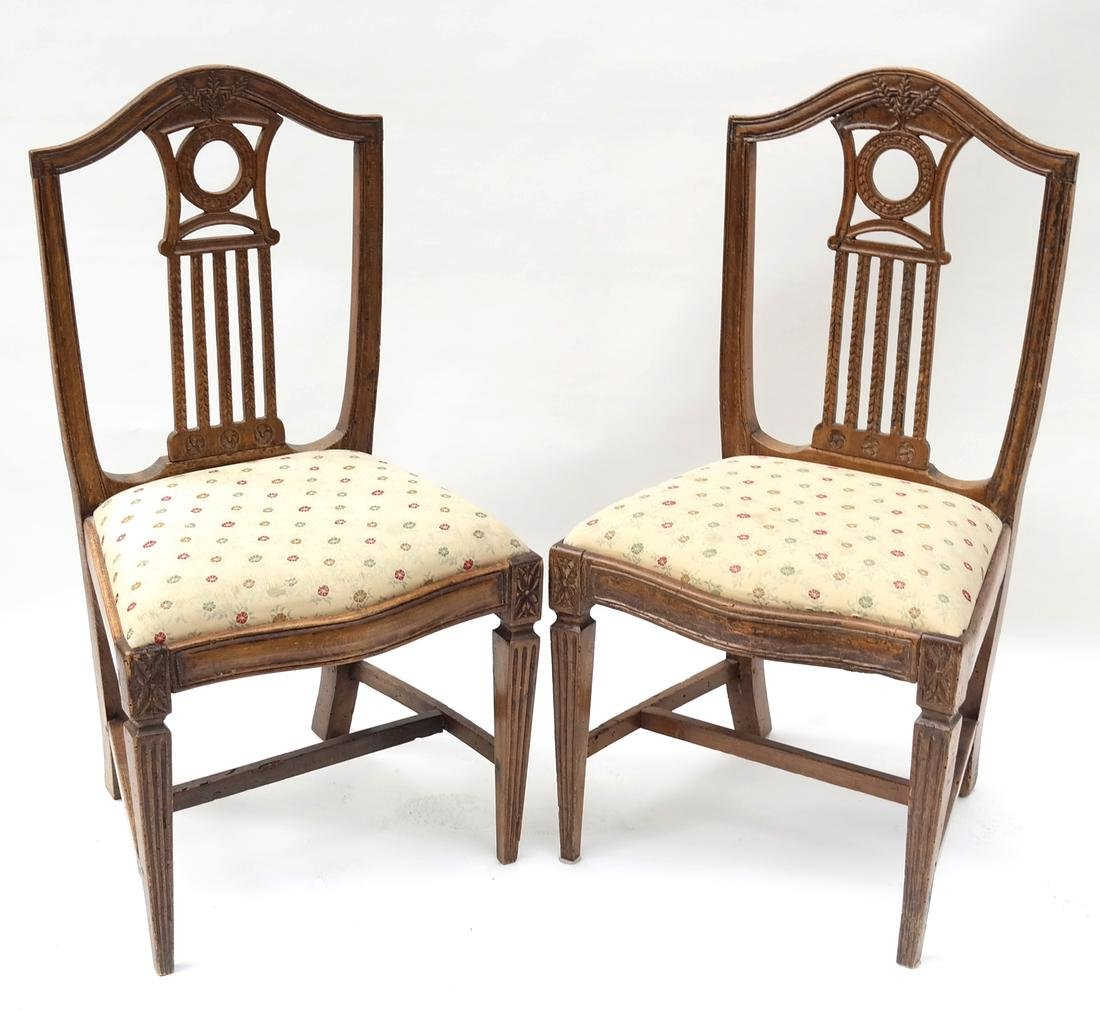 Two 19th Century Continental Side Chairs