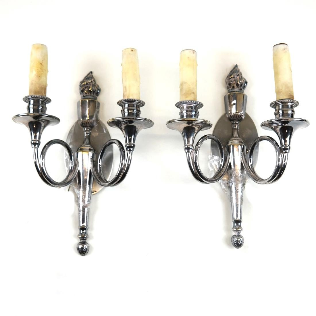 Pair of Torch-Form Sconces