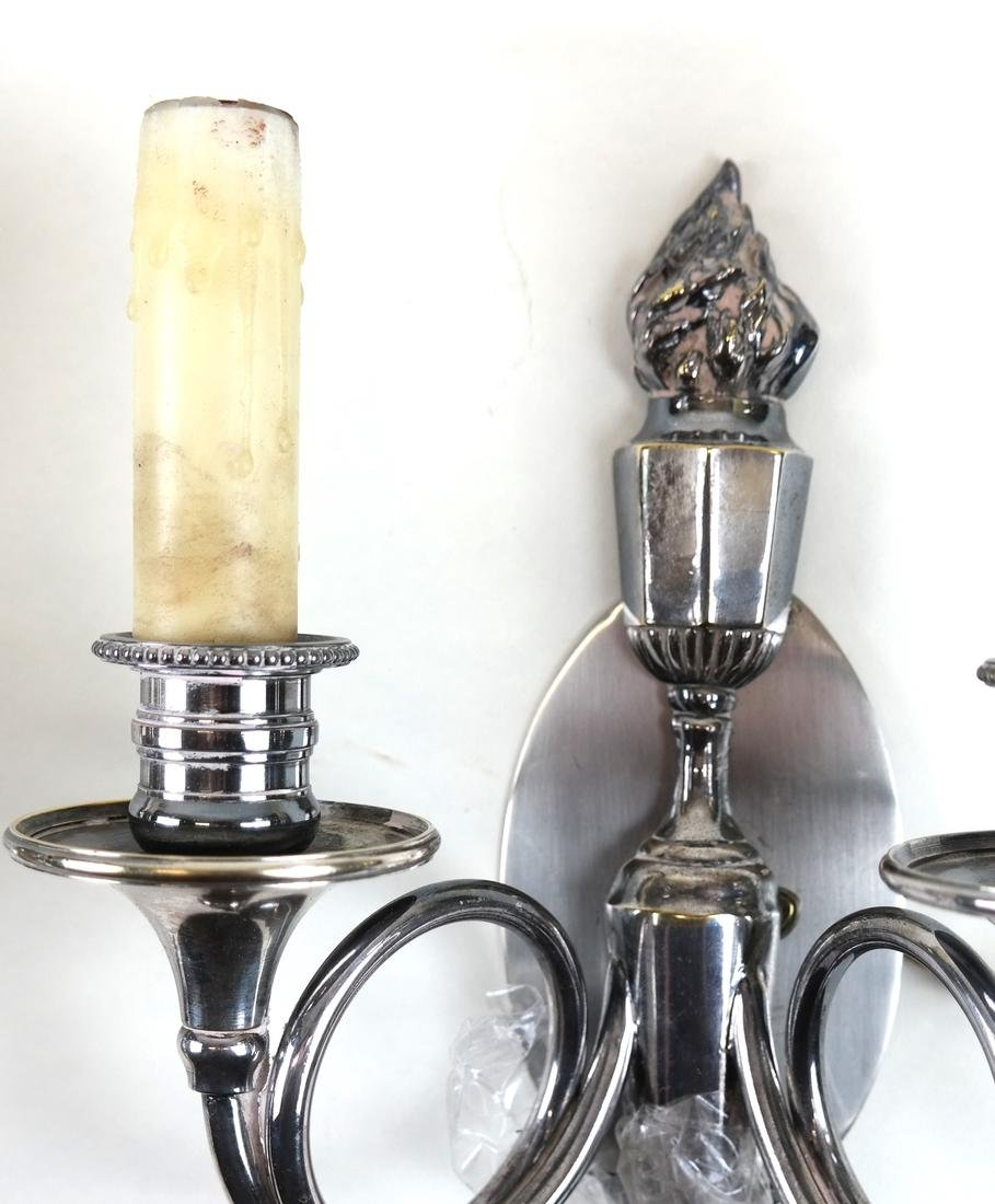 Pair of Torch-Form Sconces - 3