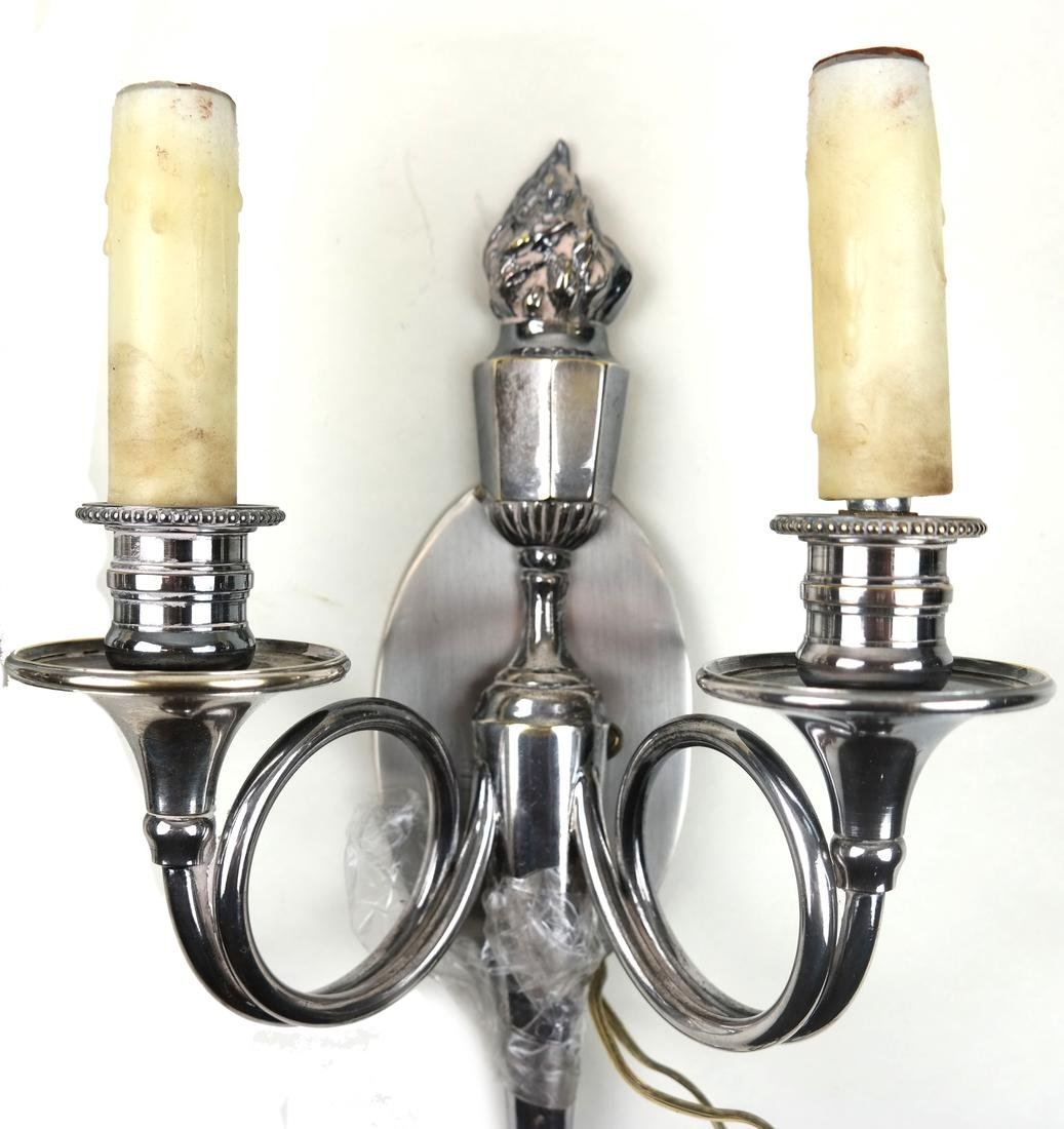 Pair of Torch-Form Sconces - 4
