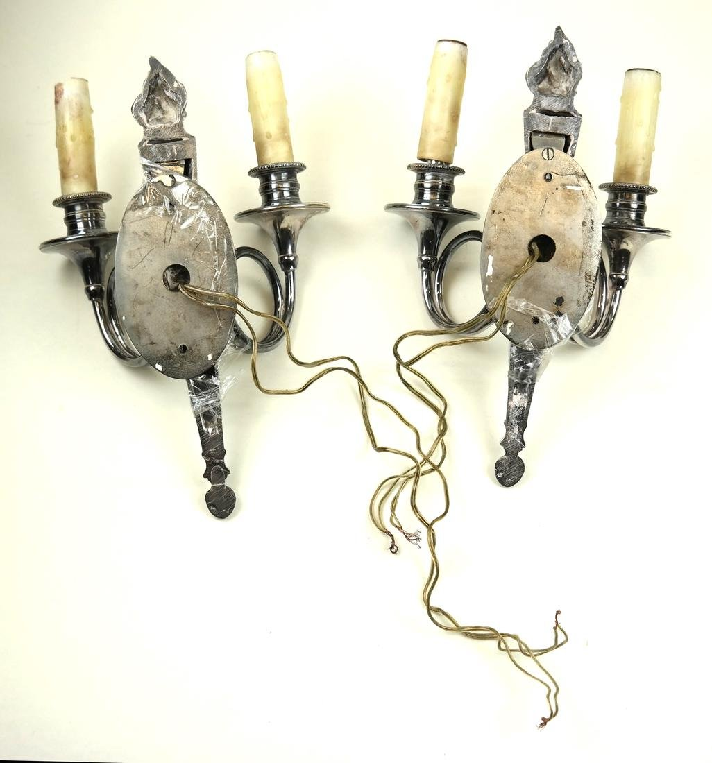 Pair of Torch-Form Sconces - 6