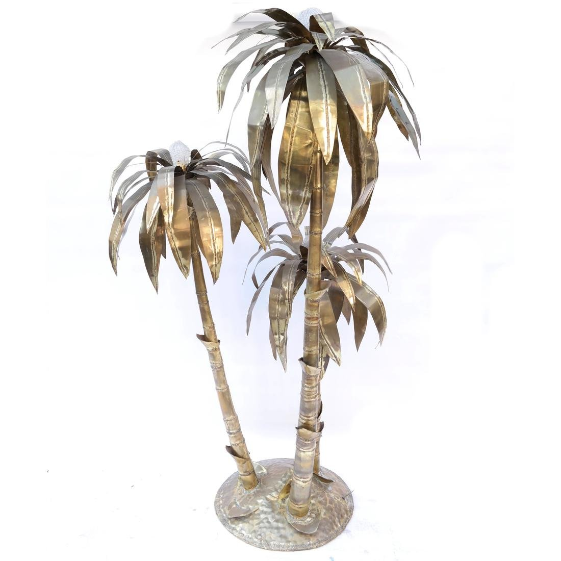 Sculptural Brass Palm Tree Floor Lamp - 2