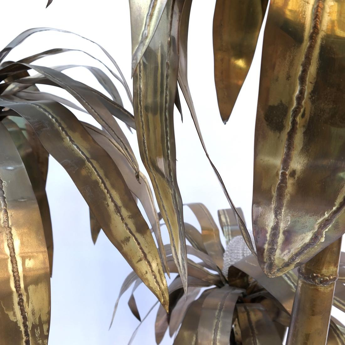 Sculptural Brass Palm Tree Floor Lamp - 5