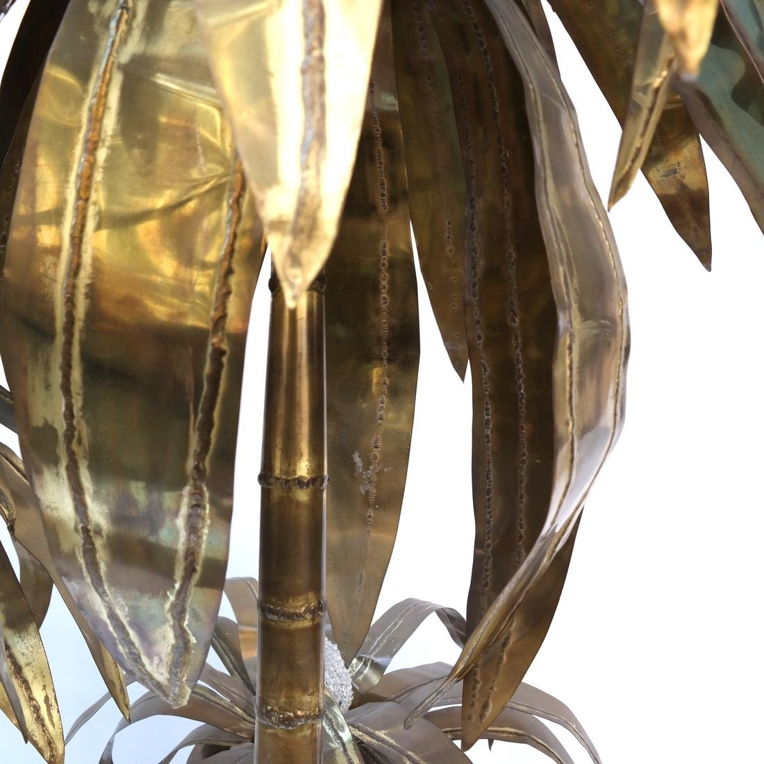 Sculptural Brass Palm Tree Floor Lamp - 7