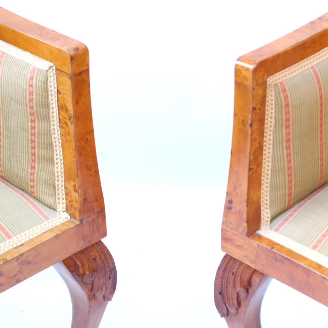 Pair of Transition Maple Armchairs - 3