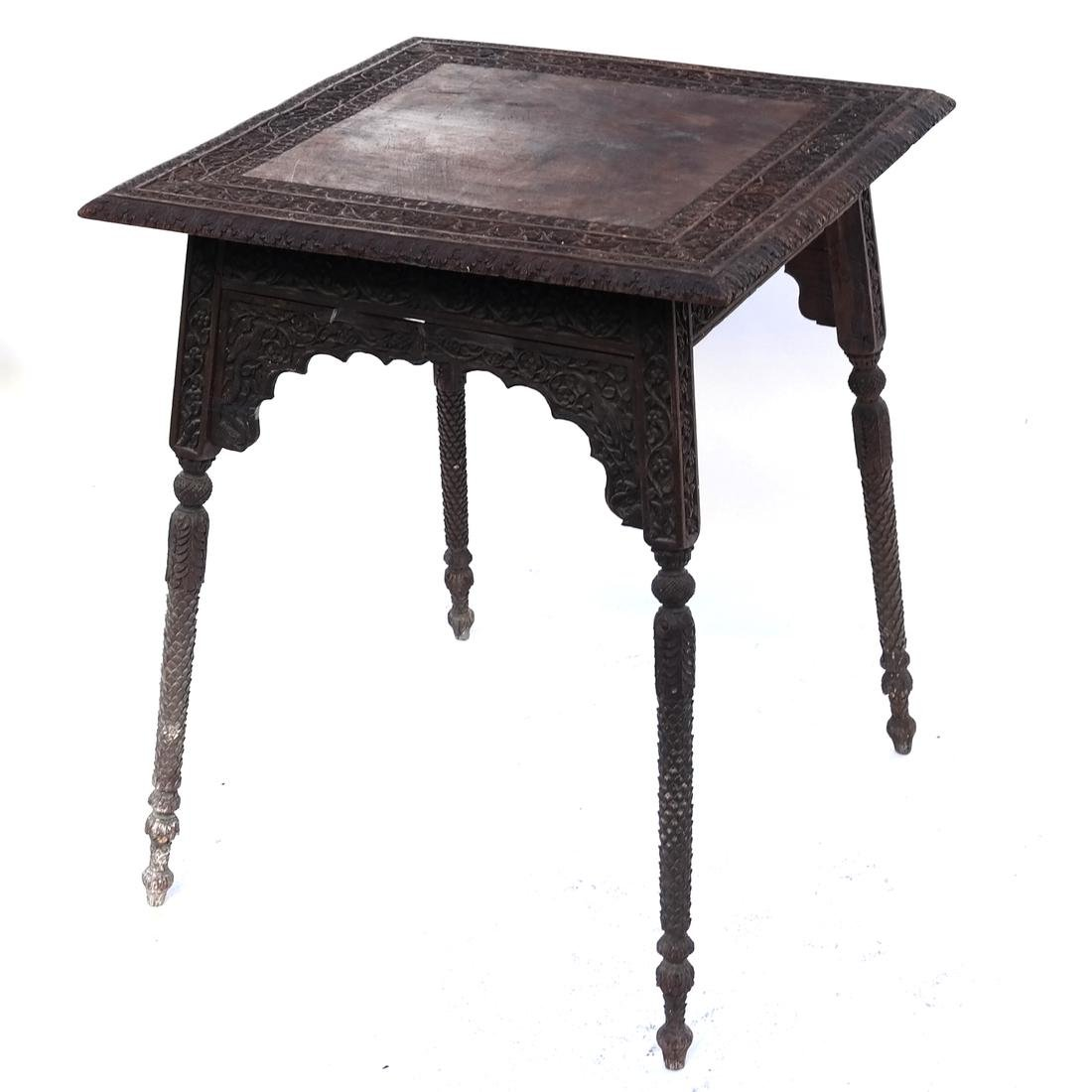 Victorian Carved Wood Table