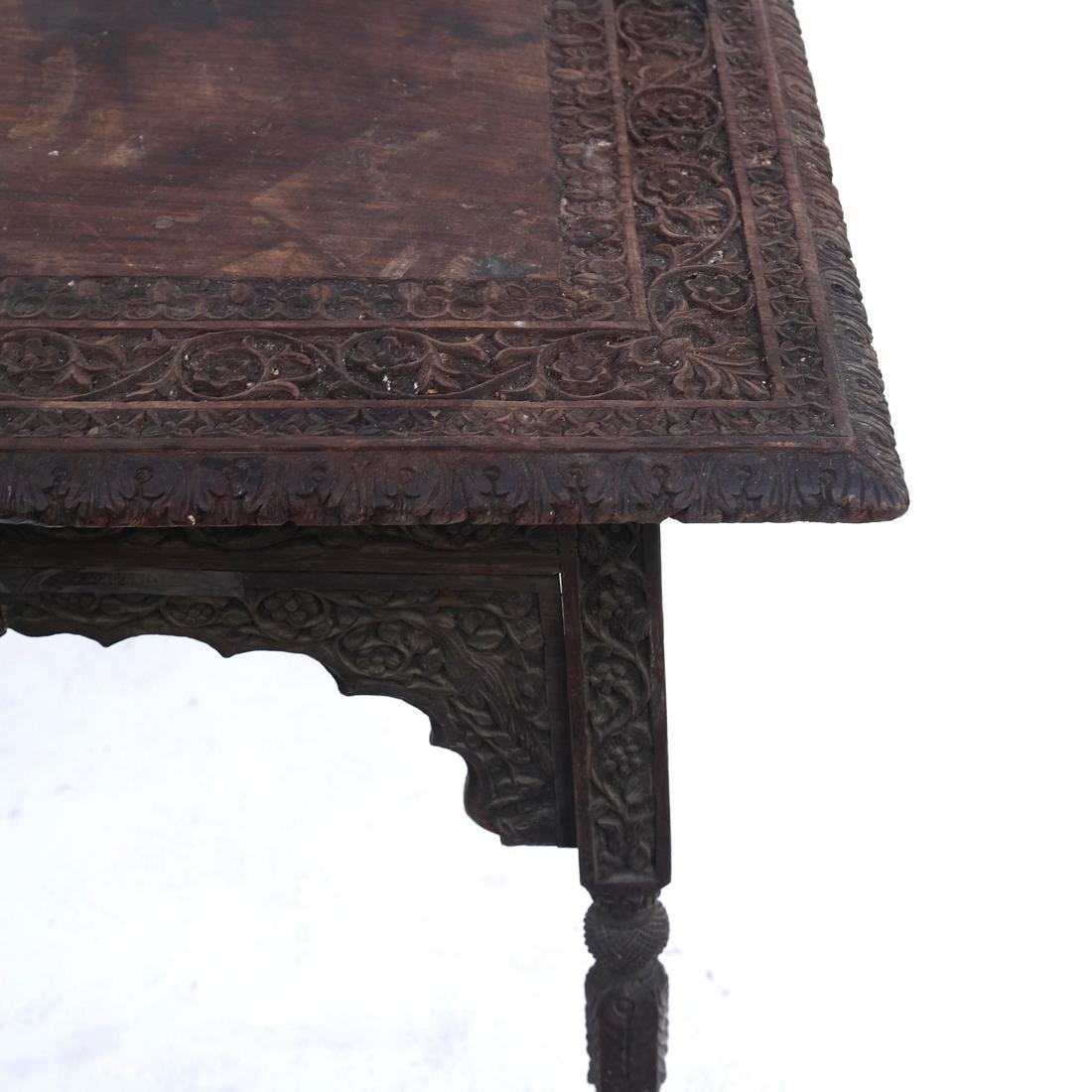 Victorian Carved Wood Table - 3
