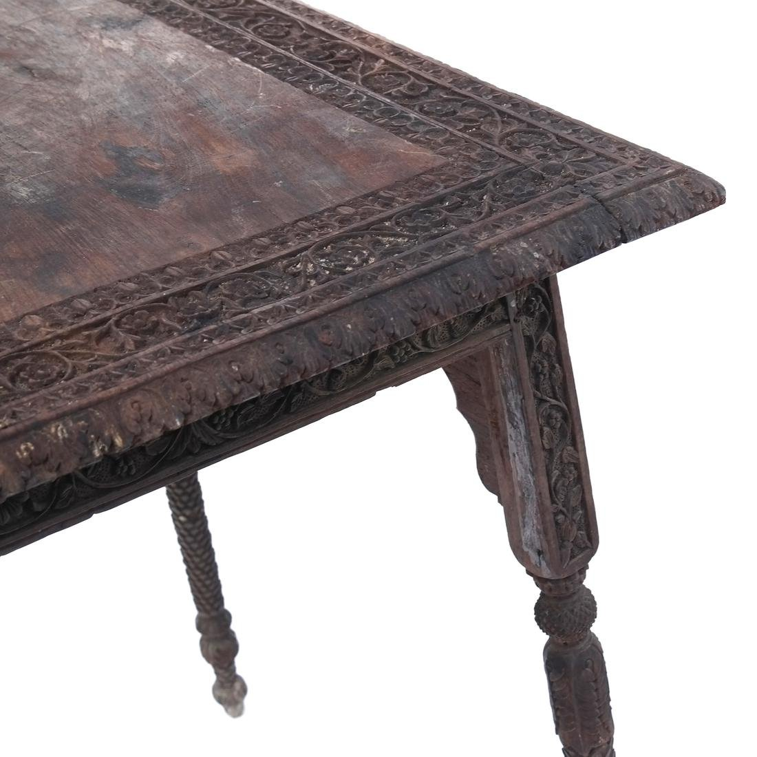 Victorian Carved Wood Table - 5
